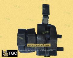 SDU Land Assault MP5 Mag + pistol Mag Drop Leg Pouch by TGC